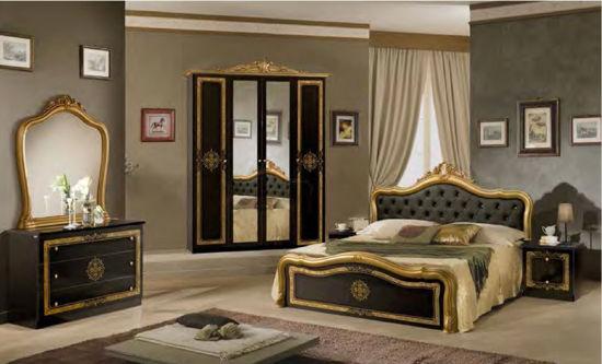 Obrázek Ložnice Luisa černá/zlatá 4dv.