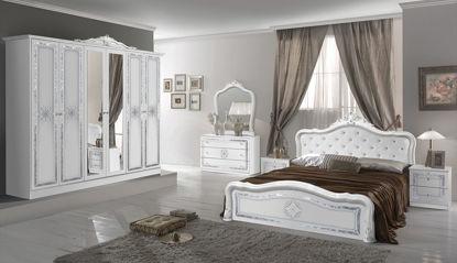 Obrázek Ložnice Luisa bílá/stříbrná 6dv.