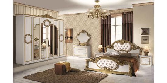 Obrázek Ložnice Barocco bílá/zlatá
