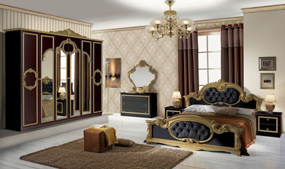 Obrázek Ložnice Barocco černá/zlatá
