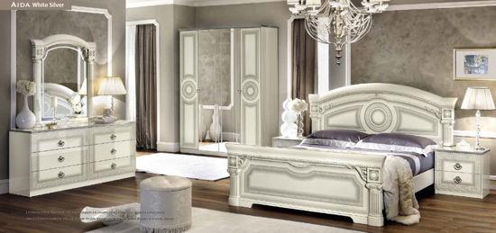 Obrázek Ložnice Aida white silver 2