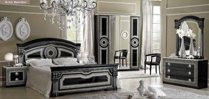 Obrázek Ložnice Aida black silver