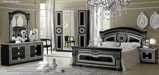 Obrázek Ložnice Aida black silver 2