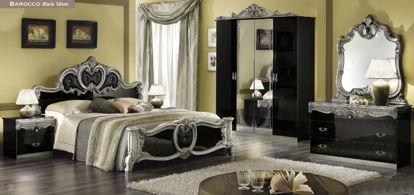 Obrázek Ložnice Barocco black silver