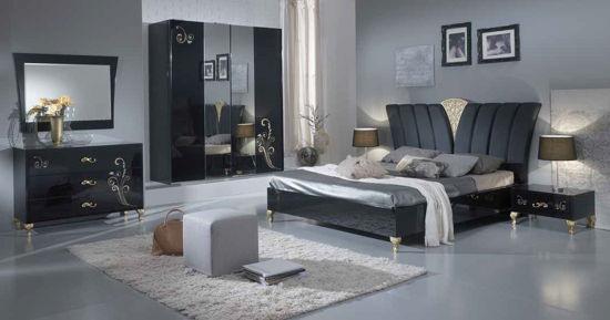 Obrázek Ložnice Sofia black/gold
