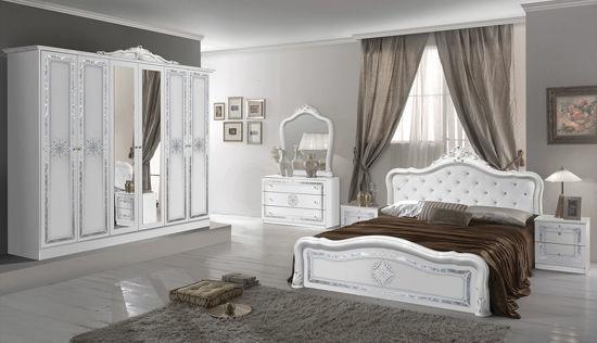Ložnice Luisa bílá stříbrná
