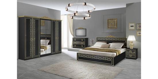 Obrázek Ložnice Olimp černá / zlatá
